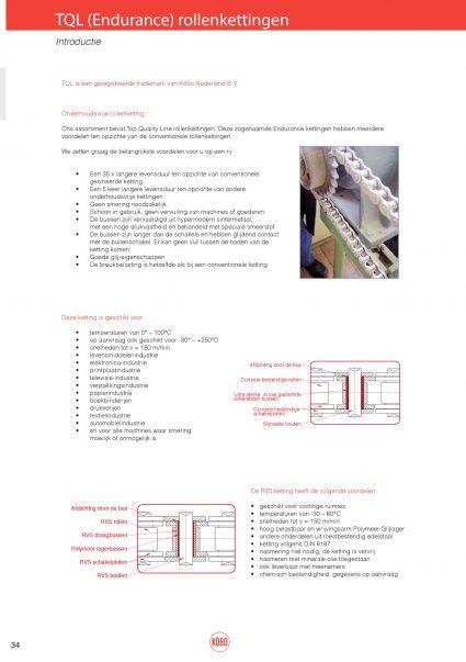 Simplex rollenketting TQL onderhoudsvrij vernikkeld
