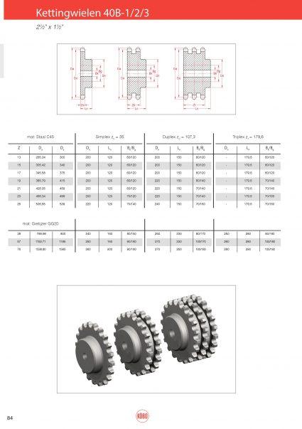 Kettingwielen Staal 40B-1/2/3 (Zs=35) – 2 1/2″x 1 1/2″