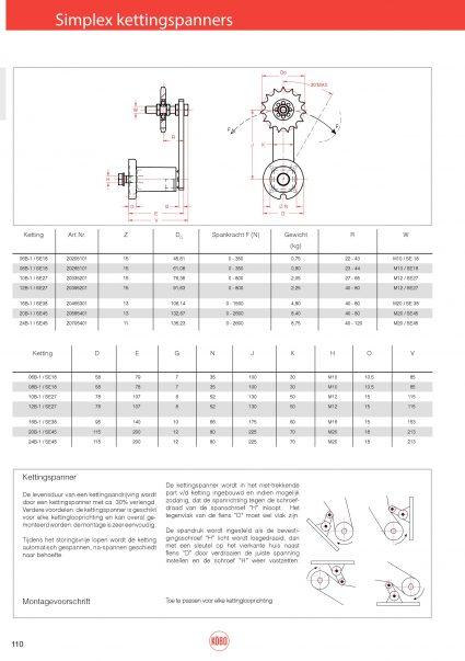 Simplex kettingspanners Rosta