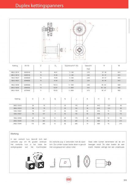 Duplex kettingspanners Rosta