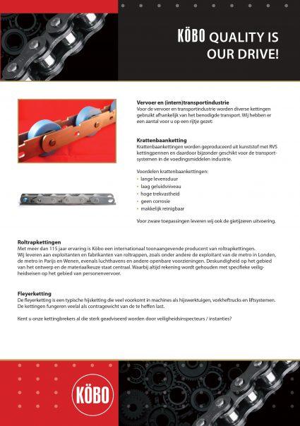 Algemene info Köbo roltrapketting en krattenbaanketting