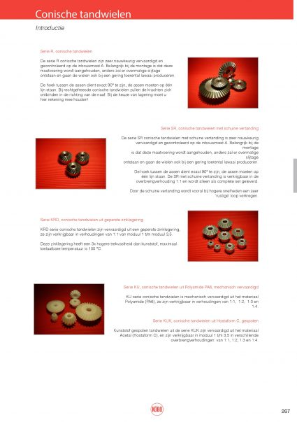 Conische tandwielen introductie