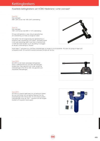 Breek- en klink gereedschap, type SA,LA,VZR